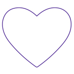 Outline of a heart.