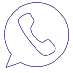 Speech bubble with telephone icon