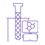 Research test tubes icon