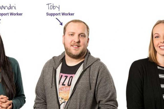 Five of our support workers